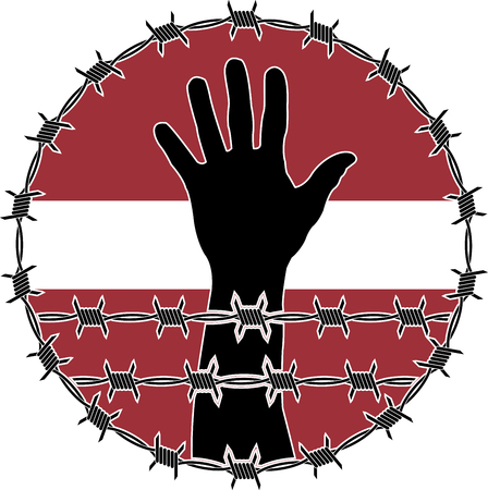confinement: violation of human rights in Latvia. raster variant