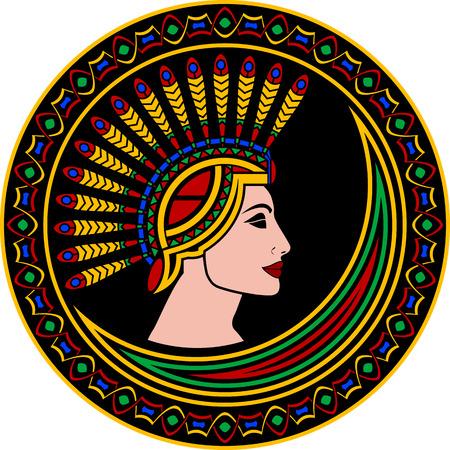 fashion portrait: priestess. vector illustration