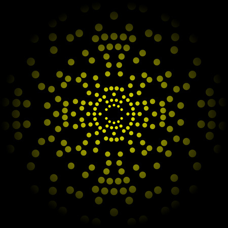circles: sphere with yellow circles Illustration