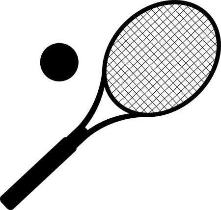 silhouette of tennis racket. vector illustration Çizim