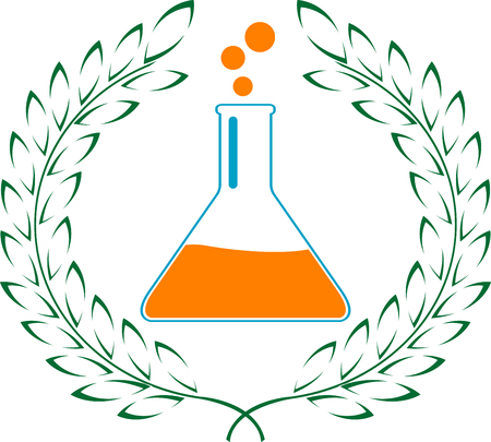 variant: glory of chemistry. second variant. vector illustration