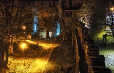 fall winter: nightly castle gate