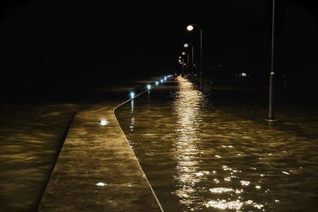nightly: nightly flood Stock Photo