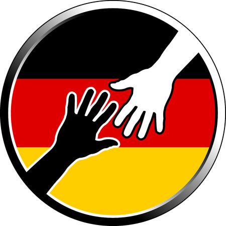 confinement: help in germany. vector illustration