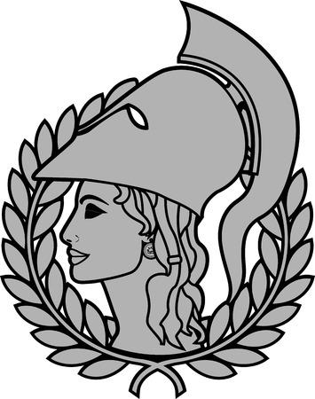 athena. second variant. illustration