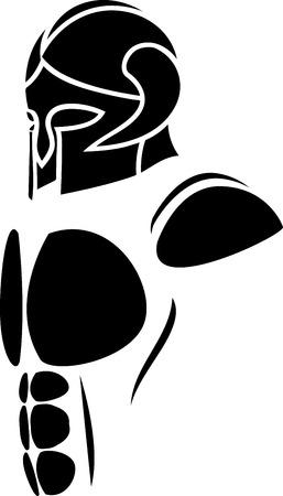 mythology: ghost warrior. illustration Illustration