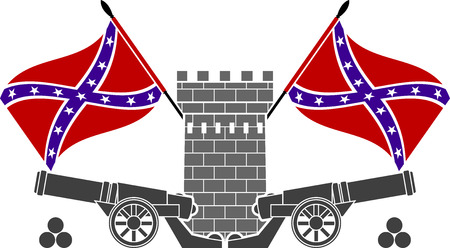 armory: glory of confederacy. stencil. second variant. illustration