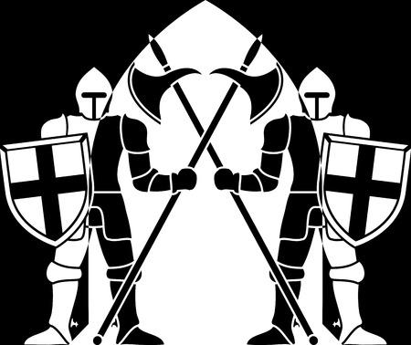 guarding: guardians. second variant. illustration Illustration