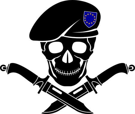 signo de las fuerzas especiales de la UE. ilustración