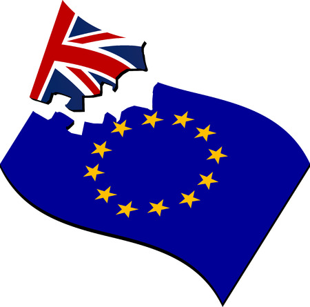 polls: brexit. breaking of european union. illustration