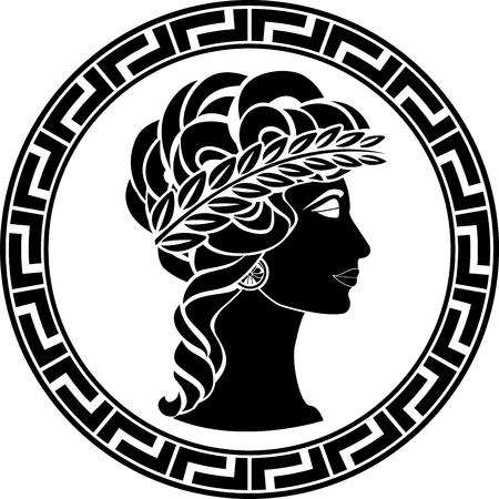 patrician: profile of ancient woman. vector illustration