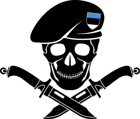 special forces: sign of special forces of Estonia. vector illustration