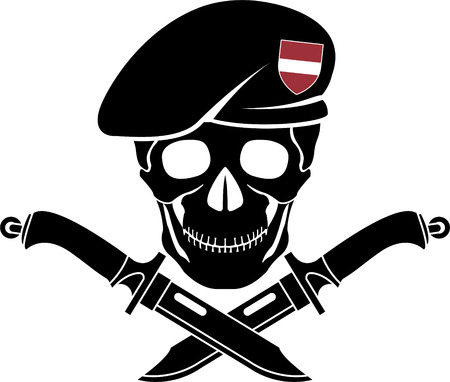 military beret: sign of special forces of Latvia. vector illustration