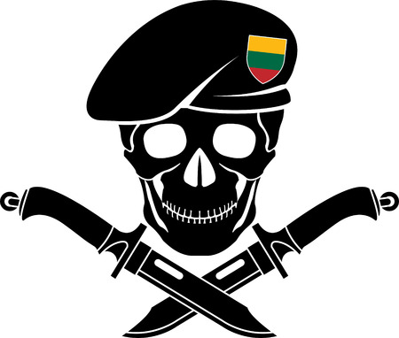 special forces: sign of special forces of Lithuania. vector illustration