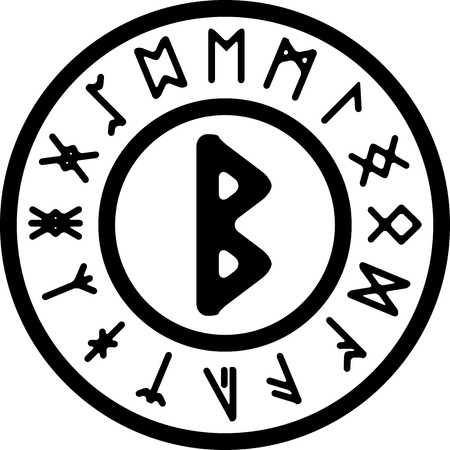 teutonic: beork ancient rune. vector illustration