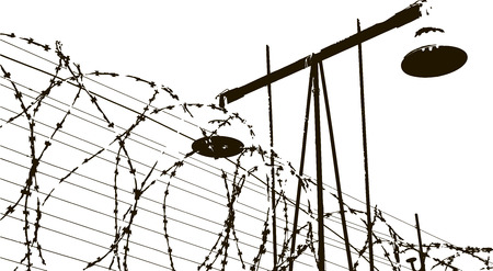 holocaust: lamp and barbed wire