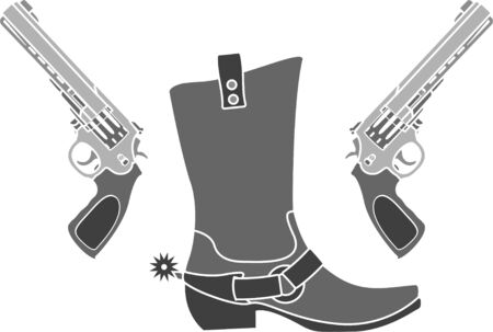 spur: pistols and boot with spurs