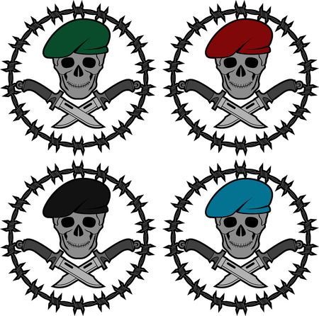 special forces: set of symbols of special forces. second variant