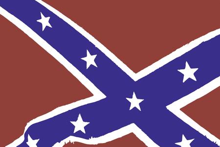 us confederate flag Illustration