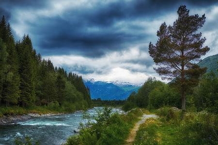 river in stordal, norway
