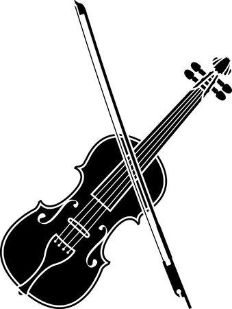 fiddlestick: violin. stencil. second variant Illustration