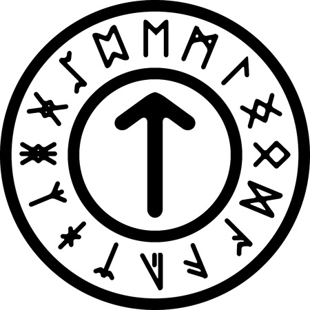 teutonic: ancient tir rune. vector illustration