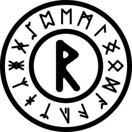 ancient rad rune. vector illutration for design Illustration