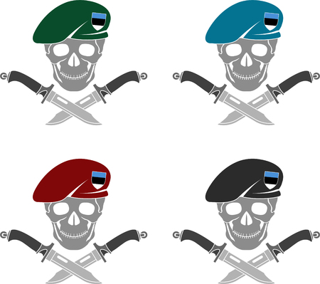 set of sign of special forces of Estonia. vector illustration Illustration