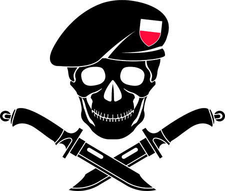 sign of special forces of Poland. vector illustration