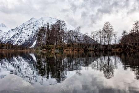 stunningly beautiful winter view of the Norwegian nature