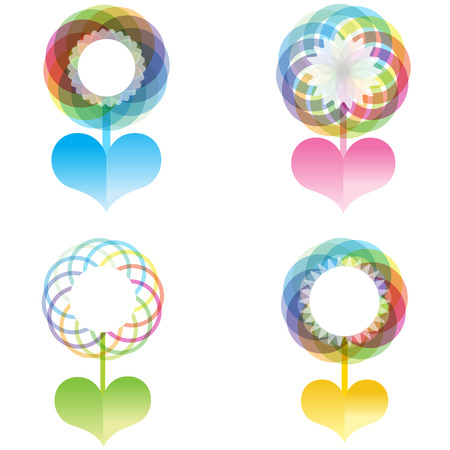 colorful heart: Colorful heart flower