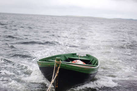 A boat in the storm photo