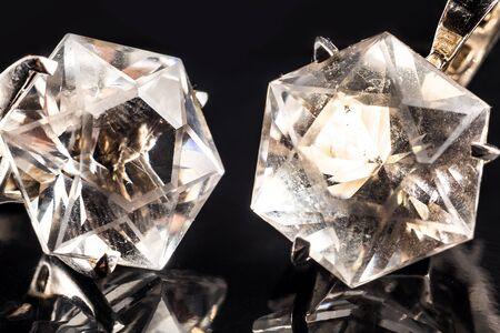 jewelery: Jewelery on black background Stock Photo