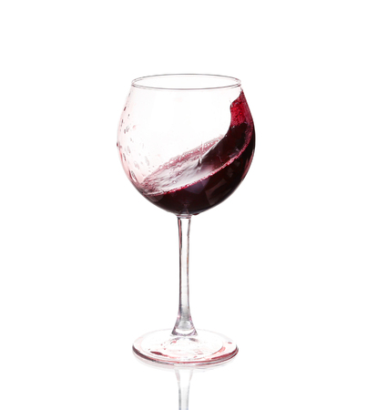 Set of glasses with red wine Stock Photo