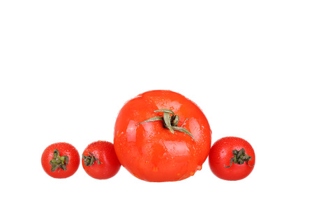 cantle: Tomato vegetables pile isolated on white background cutout Stock Photo