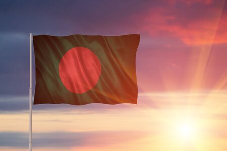 Flag of the Bangladesh .Flag with original proportions