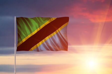 Flag with original proportions. Flag of the Tanzania Stock Photo