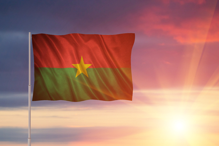 Flag with original proportions. Flag of the Burkina-Faso