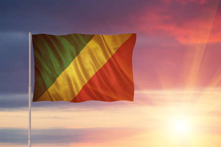 Flag with original proportions. Flag of the Republic of the Congo