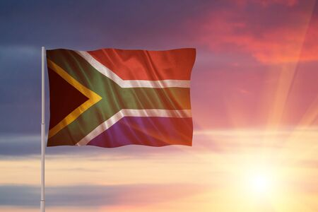 Flag with original proportions. Flag of the South_Africa