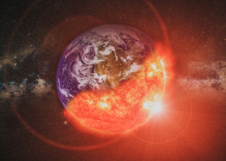 Global catasrtophe concept illustration. This image elements furnished by NASA