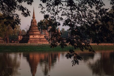 Sukhothai Historical Park, in Thailand. the old town of Thailand in 800 year ago