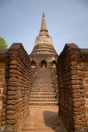 Si Satchanalai Historical Park Is the historical park of Thailand Built in the Sukhothai period Received cultural heritage registration Stockfoto