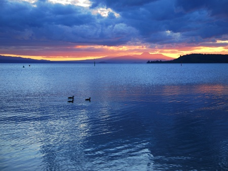 Taupo sunset photo