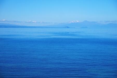tongariro: Taupo lake and Tongariro  Stock Photo