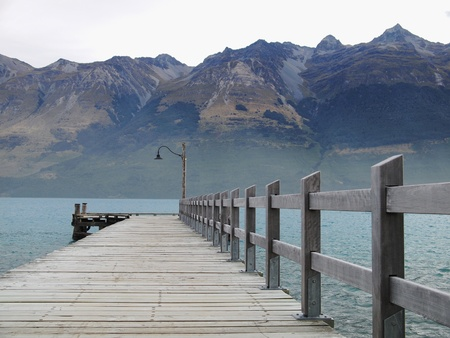 wakatipu: Wakatipu lake Stock Photo