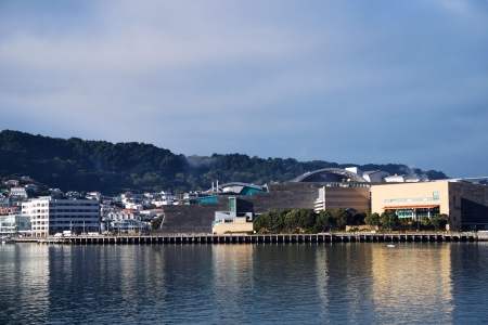 election night: View of TE PAPA museum Editorial