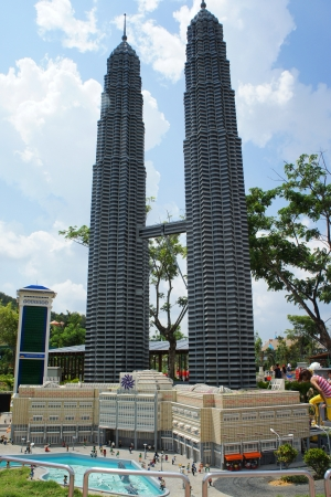 sightseers: Twin Tower in Legoland