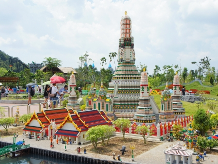 sightseers: Copy of Dawn temple of Thailand Editorial