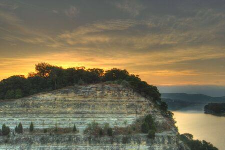 austin: Austin, Texas - Sunrise from 360 Highway Stock Photo